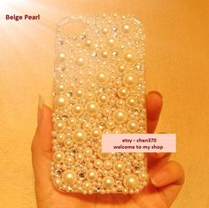 New Covered By Diamonds and Pearls Flatback Scrapbooking / DIY Phone Case Deco Den Kit. $4.99, via Etsy.