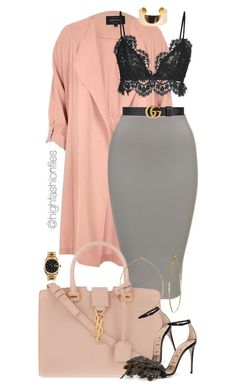 """""""Untitled #2767"""" by highfashionfiles on Polyvore featuring River Island, Isabel Marant, Yves Saint Laurent, Gucci, Elie Saab, Phyllis + Rosie and Rolex"""