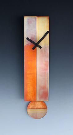 Lena Pendulum Clock: Leonie Lacouette: Metal Clock - Artful Home