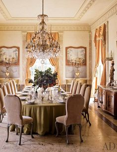 Gorgeous Dining Roomcathy Kincaid Design Photo Antoine Bootz Prepossessing Mansion Dining Rooms 2018