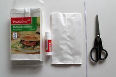 Papírové vánoční hvězdy z pytlíků - Testováno na dětech Plastic Cutting Board, Food, Essen, Meals, Yemek, Eten