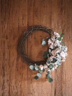 A Fun-Filled Winter Wedding in Charleston Greenery Wreath, Grapevine Wreath, Floral Wreath, Floral Wedding, Wedding Flowers, Wedding Doors, Wedding Wreaths, Rustic Chic, Grape Vines