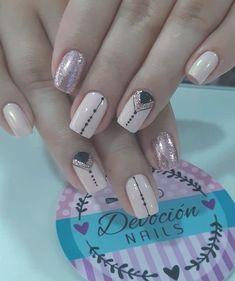 50 perfect pink and white nails for brides 22 Pink Nail Art, Pastel Nails, Cute Acrylic Nails, Cute Nails, Red Nail, Stylish Nails, Trendy Nails, Art Deco Nails, Nail Art Designs Videos
