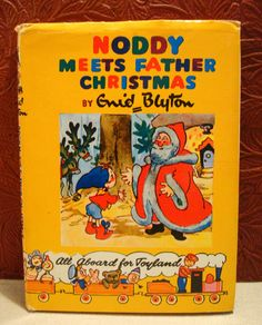 Noddy Meets Father Christmas  Enid Blyton Hardcover Jacket 1961 Book 11