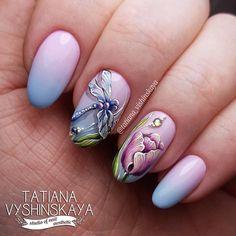 869 отметок «Нравится», 27 комментариев — Татьяна Вышинская, Пятигорск. (@tatiana_vishinskaya) в Instagram: «Вот теперь точно весна у меня... только погода не радует  Роспись гель-лаками ❤ #ногтипятигорск…»