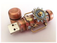 in love this one too! Steampunk 16gb USB flash drive - and it comes a tin box
