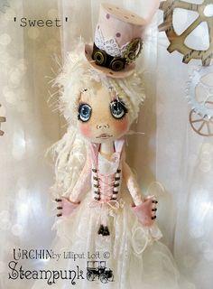 Sweet Urchin Steampunk OOAK Art Doll on Etsy, Sold