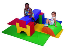 Running out of things to do with your kids? Here is a great alternative when you can't go outside! Soft set ups with different densities of foam and reversible supports. Use individual pieces or progressively in groups. Ages: 3 – 6 yrs CF362-551