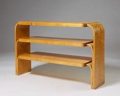 Rare shelf designed by Alvar Aalto for Hedemora, — Modernity Wooden Furniture, Custom Furniture, Table Furniture, Furniture Design, Furniture Storage, Scandinavian Shelves, Scandinavian Design, Alvar Aalto, Regal Design