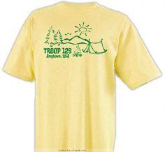 Troop Camping Sketch Shirt - Girl Scout Troop Design SP2468