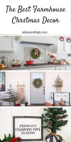 I have gathered a ton of farmhouse Christmas decor ideas that I think even Joanna Gaines would approve! You will find farmhouse Christmas decor for your front porch, christmas trees, decor for your family room and more!