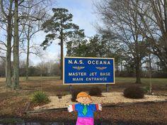 Flat Stanley at NAS Oceana Base.