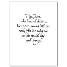 Blessings on Baby's Baptism - Baptism Card, Child