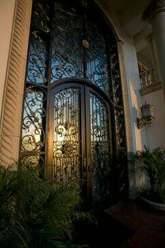 large iron front door TheModernMidwestHousewife