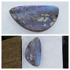 Purchased the boulder opal. These colours are in overcast conditions, will be stunning in full sun.