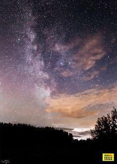 Perseidien tähdenlento erottui myös hyvin Kouvolassa viime yönä.
