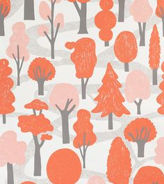 makelike (a shop) Zig Zag Wallpaper : Red