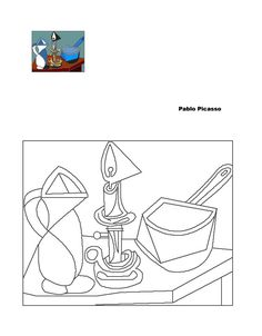 picasso Pablo Picasso, Kunst Picasso, Picasso Art, Colouring Pages, Adult Coloring Pages, Coloring Books, Artist Painting, Painting & Drawing, Art Worksheets