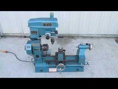 Nice Chizhou Model HQ-400 Multi-Purpose Lathe Drill Press Milling Machine Combo - YouTube