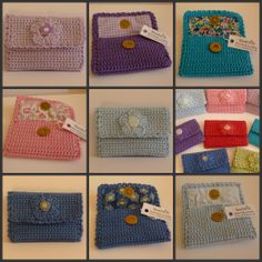 Lined crochet purses