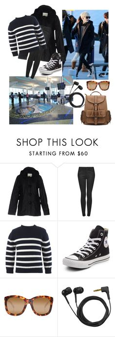 """""""Yoongi"""" by bangtansstyle ❤ liked on Polyvore featuring Kilt Heritage, Topshop, Converse, Linda Farrow and Sennheiser"""