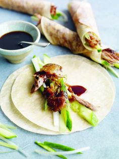 You can't go wrong with an Aromatic Crispy Duck, served with pancakes, cucumber, spring onions and our own deliciously moreish plum sauce. Deer Recipes, Turkey Recipes, Plum Recipes, Duck Pancakes, My Favorite Food, Favorite Recipes, Asian Recipes, Healthy Recipes, Hoisin Sauce