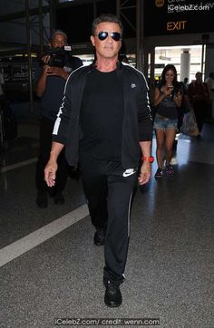 Sylvester Stallone and family at Los Angeles International Airport (LAX) http://icelebz.com/events/sylvester_stallone_and_family_at_los_angeles_international_airport_lax_/photo1.html