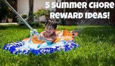 Five Summer Chore Reward Ideas - ChoreMonster Chore Rewards, Reward Ideas, Life Skills, Teaching Kids, Summer, Summer Time, Kids Learning