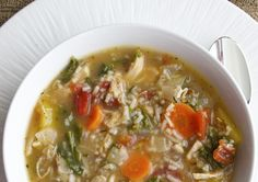 Easy Turkey Vegetable Kale Soup works for Phase 1 (with brown rice and no oil) and Phase 3 (use wild rice). You can substitute chicken, too.