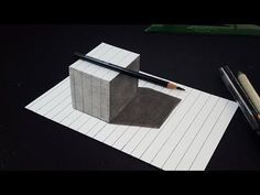 How To Draw 3d Raising letter C - 3D Illusion - Very Easy 3D Trick Art on paper - Art Konna - - YouTube #3ddrawing #3ddrawingeasy #3ddrawings