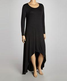 Look what I found on #zulily! Black Hi-Low Maxi Dress - Plus #zulilyfinds