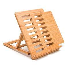 Lipper Bamboo Adjustable iPad Stand