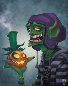 GhostHause - Year Book Photo Green Goblin