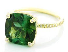green tourmaline ring by Vera Wang.