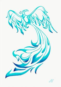 Blue phoenix | Tattoos | Pinterest | Phoenix and Blue