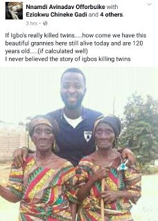 welcome to priscillia nkechi blog: wow checkout the photo of healthier twins of 120yr...