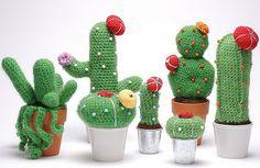 Ornaments – Amigurumi cactus – a unique product by crochettes on DaWanda Crochet Cactus, Crochet Art, Crochet Dolls, Crochet Flowers, Amigurumi Patterns, Crochet Patterns, Cactus E Suculentas, Diy Fleur, Cactus Craft