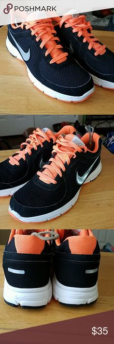 Nike Mens running shoes size 12 ***FIRM ON PRICE*** men's Nike air relentless in size 12. These are in great shape only worn a handful of times. No issues at all black and florecent orange in color. Nike Shoes Athletic Shoes