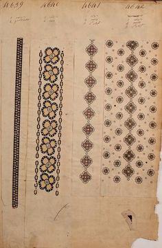 1863 - [French textiles] sample books by the Maison Robert firm, Paris; Textile Patterns, Textile Design, Print Patterns, Textile Art, Fabric Wallpaper, Pattern Wallpaper, Vintage Textiles, Vintage Prints, Clark Art