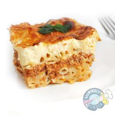Pastitsio  I used Ziti and allspice instead of allspice berries because that's what I had.