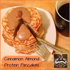 cinnamon almond protein pancakes - THE FIT BALD MAN