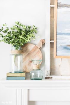 Decorating a Mantel with Blues via House by Hoff