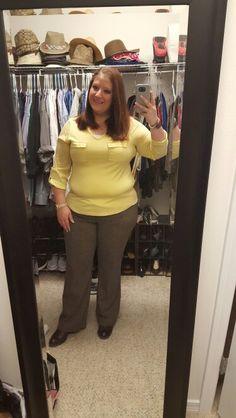 1.25.16 Ann Taylor top,  NY & Co pants