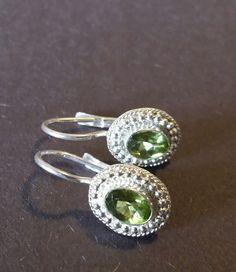 Esther Mahari - 925 Sterling Silver Genuine Peridot Leverback Earrings | Jewelry & Watches, Fine Jewelry, Fine Earrings | eBay!