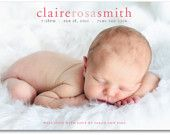 baby girl or boy birth announcement photo birth announcement