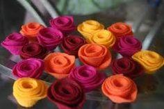 Risultati immagini per fiori in pannolenci