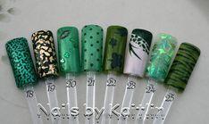 Portes de l'Art de l'ongle artificiel vert par KaitlinsDesignerNail