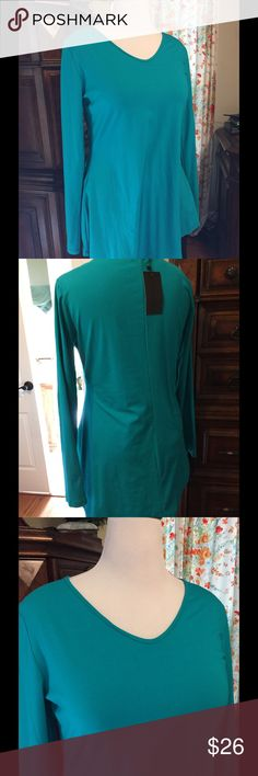 Cute Turquoise Shirt. Beautiful Color This beautiful Hi/LO Shirt is sure to be a great color for Spring, NWT just been hanging in my Closet . Can be worn as a Tunic. Doublju Tops Tunics