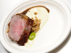 Bistro George - Seared Eye of Rib Eye with Cauliflower Puree and Mushroom Red Wine Sauce