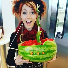 lindseystirling@Youtube headquarters threw me a pirate party #watermelonart #thankyou